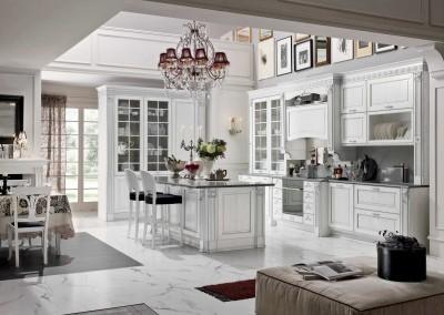Contemporary solid wood / wood veneer kitchen
