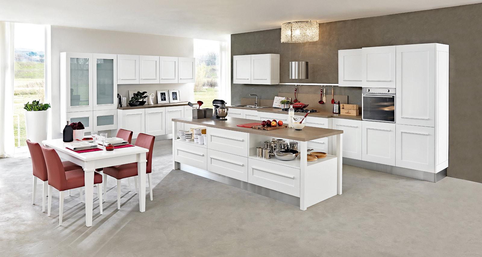 Piastrelle Per Parete Cucina cucina bianca parete grigia